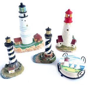 VINTAGE Lighthouse Decorative Figurines & Coasters